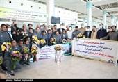 استقبال از تیم قهرمان جام فوتبال شرکتهای جهان در کرمان به روایت تصویر