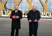 افتتاح فرودگاه فضولی جمهوری آذربایجان با حضور علی اف و اردوغان