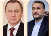 رایزنی وزرای خارجه ایران و بلاروس درباه وضعیت اتباع ایرانی گرفتار در مرز لیتوانی