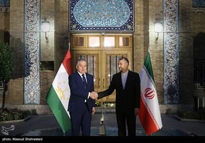 دیدار امیرعبداللهیان وزیرخارجه ایران با سراج الدین مهرالدین وزیر خارجه تاجیکستان