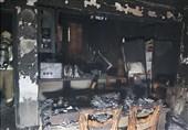 نابود شدن منزل مسکونی خیابان ولیعصر در آتش + تصاویر