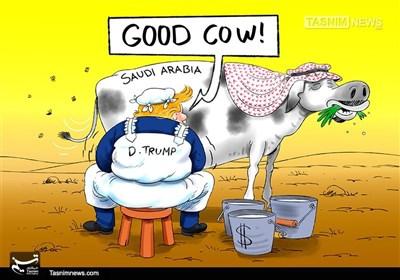 کاریکاتور/ نُه مَن شیرده ترامپ !!!