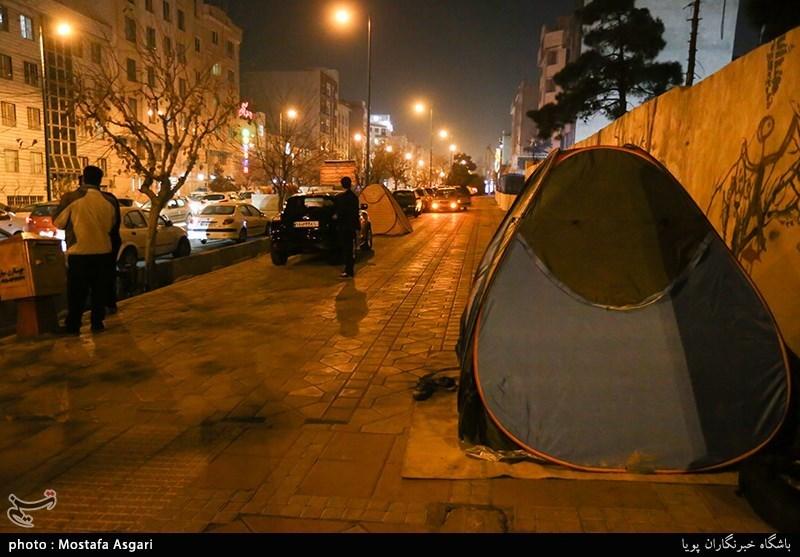 حضور مردم پس از ز له درخیابان های شهر تهران